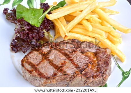Steak chorizo (traditional Argentine barbecue) - stock photo