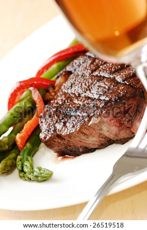 steak dinner - stock photo