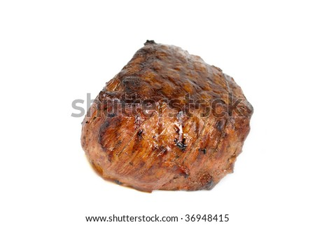 Steak dinner , Fillet Mignon- juicy grilled,isolated