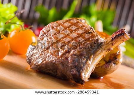 Steak, meat, beef. - stock photo