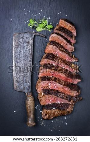 Steak Slices - stock photo