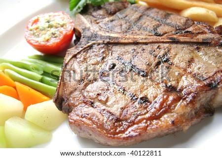 steak t-bone - stock photo