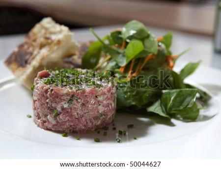 Steak Tartare Dish - stock photo