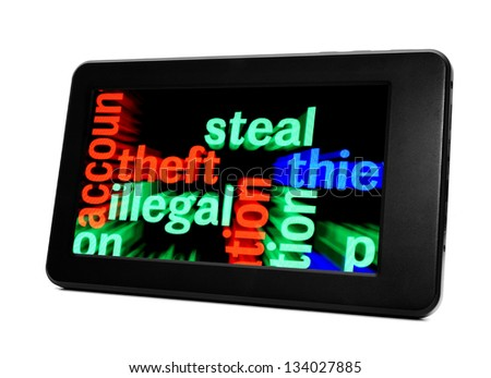 Steal illegal theft - stock photo