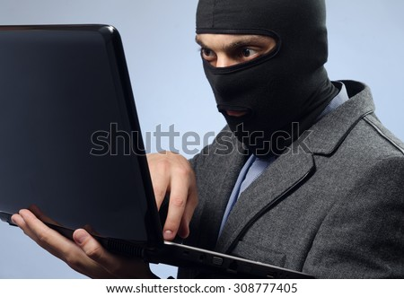 stealing data from a laptop