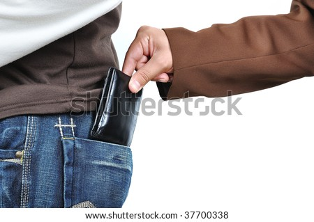 Stealing from back - stock photo