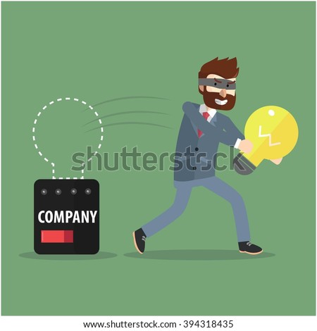 Stealing idea from corporate - stock photo