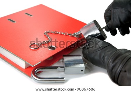 Stealing information - stock photo