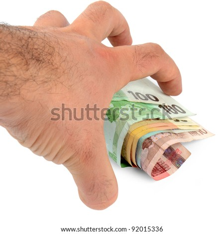 Stealing money - stock photo