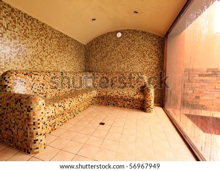 Steam bath - stock photo