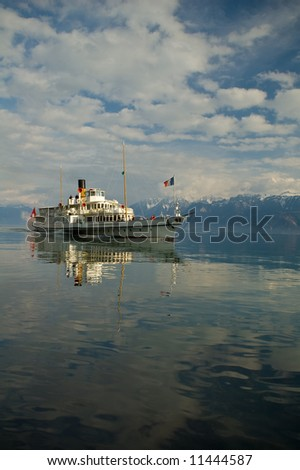 Steam Boat on Lake Geneva