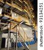 Steam boiler - stock photo