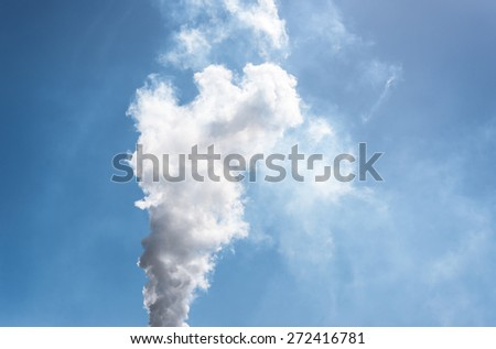 steam coming out of chimney - stock photo