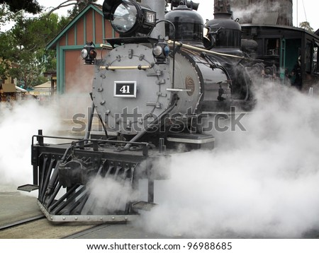 Steam Engine - stock photo