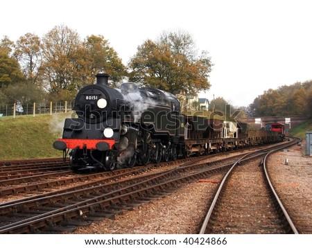 Steam Freight Train - stock photo