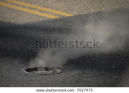 Steam Grate - stock photo