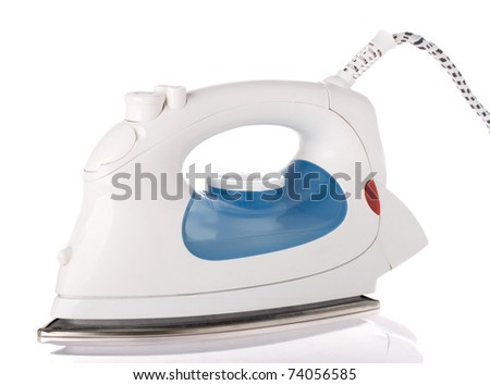 Steam iron isolated on a white background
