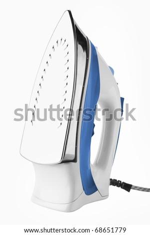 Steam iron isolated on white background - stock photo