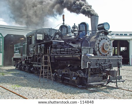 steam locomotive - stock photo