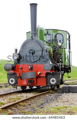 steam locomotive, Hoorn - Medemblik, Noord Holland, Netherlands - stock photo