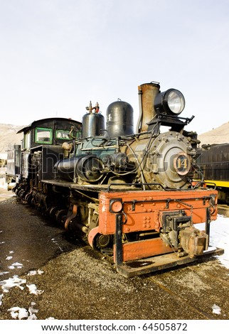 steam locomotive in Colorado Railroad Museum, USA - stock photo