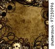 steam punk style background texture - stock photo