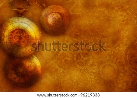 steam punk style grunge background