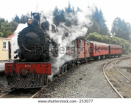 Steam Train and Carriages
