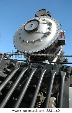 Steam train at Travel Town museum, Los Angeles - stock photo