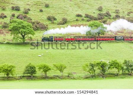 steam train, Talyllyn Railway, Wales - stock photo