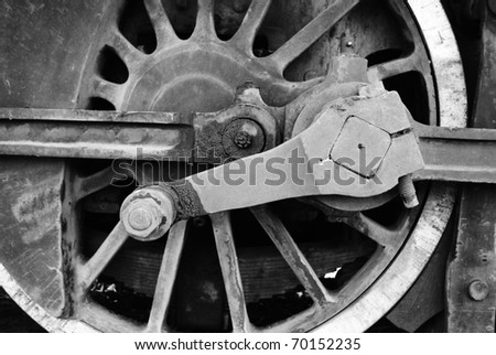 Steam train wheel - stock photo