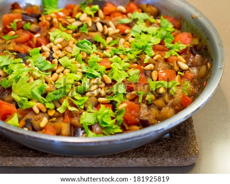 Steam vegetables - Sicilian Caponata.