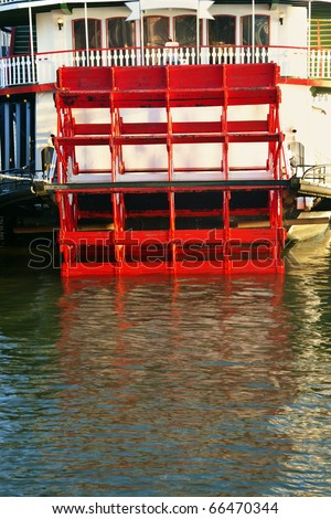Steamboat on Mississippi River - New Orleans, Louisiana. - stock photo