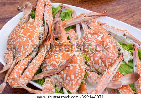 Steamed Crab seafood - stock photo