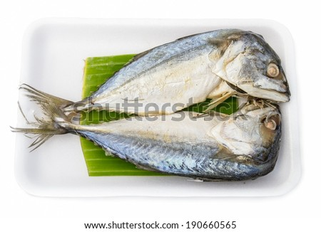 Steamed fish - stock photo