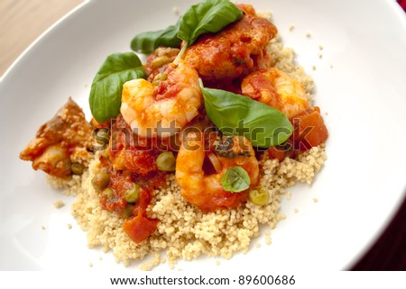 Steamed Fish with Cous-Cous Moroccan Style
