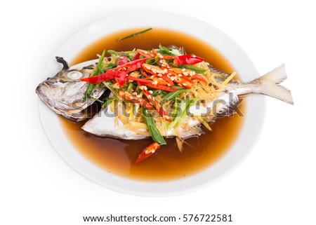 Chinese steamed fish stock images royalty free images for Soy sauce fish