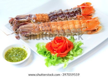 steamed Lobster  - stock photo