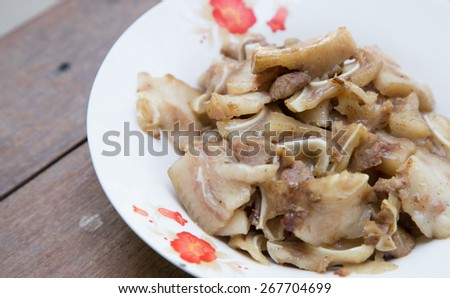 Steamed pork is a retro-style of thailand and aromatic spices delicious is a special menu - stock photo