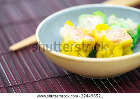 Steamed shrimp dumplings - stock photo