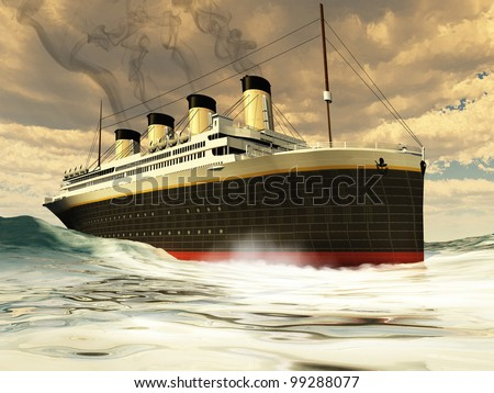 Steamer Ship Great Ship Cruises Along Stock Illustration - Can you take a steamer on a cruise ship