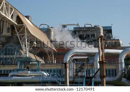 Steaming industrial facility