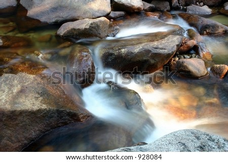 Steaming Stream in Yosemite National Park