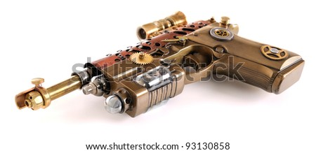 Steampunk Hand Cannon - stock photo