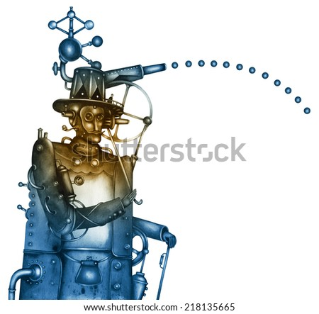 Steampunk Illustration - stock photo