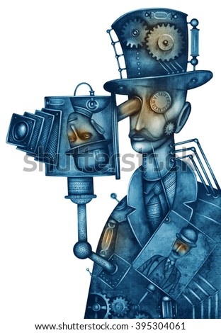Steampunk man