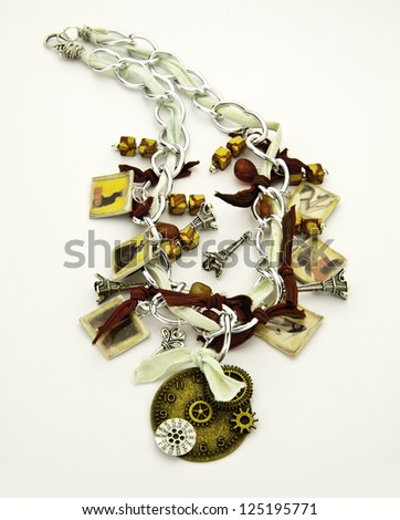Steampunk Necklace One - stock photo