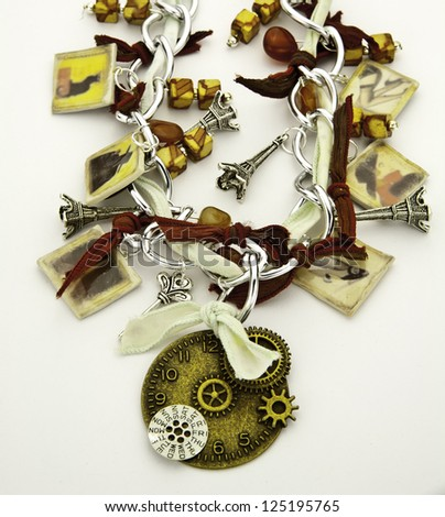 Steampunk Necklace Two - stock photo