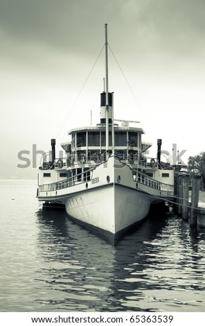 steamship on moorage