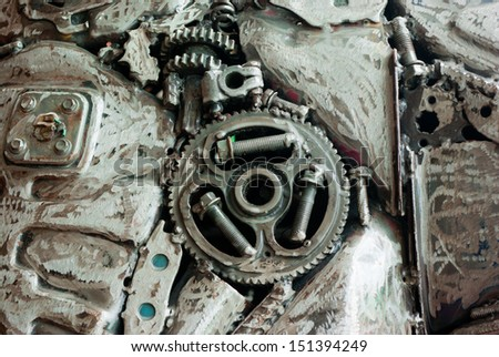 steel art by Recycled - stock photo